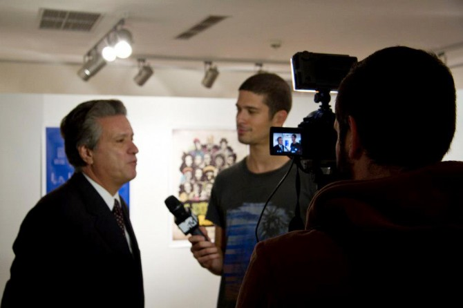 Consul General of Jamaica in Greece, William Argeros, talking to MTV channel.