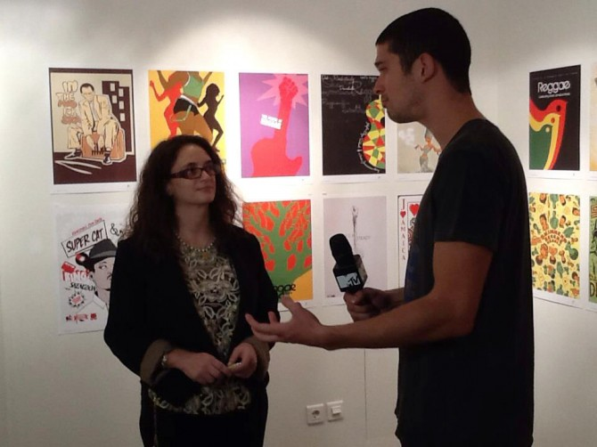 Maria Papaefstathiou, co-founder, announcing the 2013 Reggae Poster Contest on MTV.