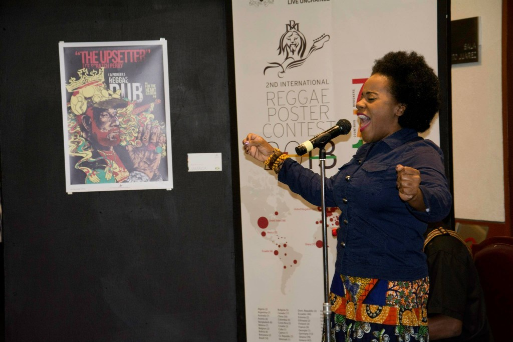 Reggae singer Etana performing at the IRPC opening