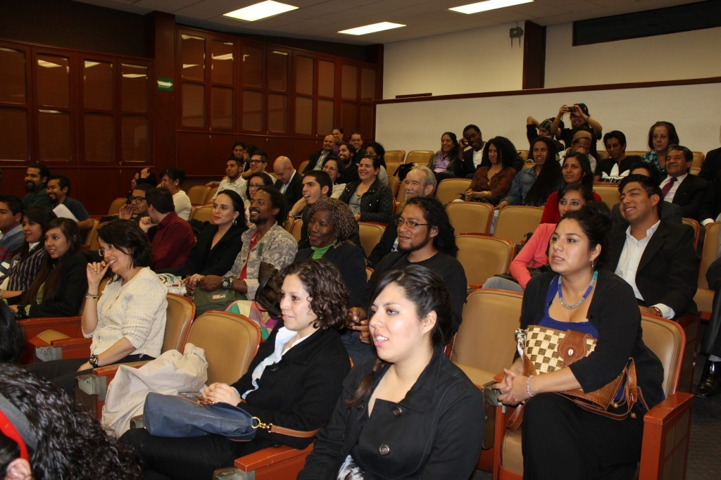 The audience listening to Professor Cooper's lecture at the Matías Romero Institute