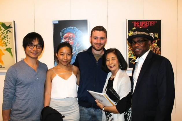 Chung Yu Lee, Angela Lee, Chris Blackwell Jr., Patricia Chin of VP, and Michael Thompson