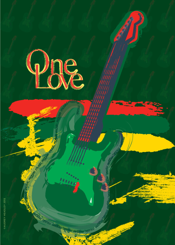 One Love poster by audrey headley