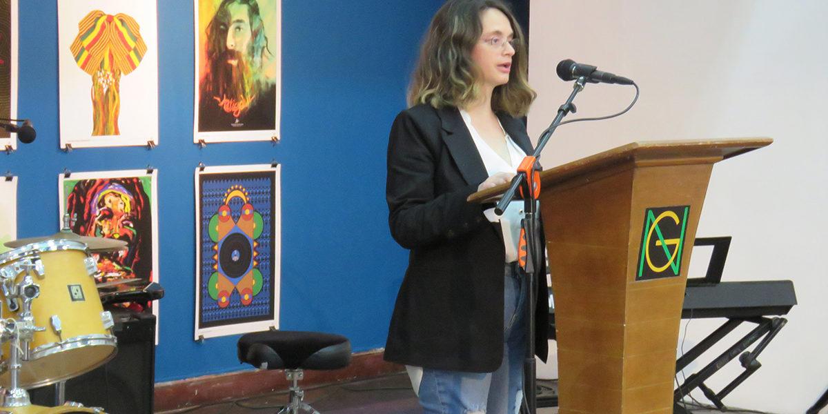 Maria Papaefstathiou's speech at The 25th Art of Reggae